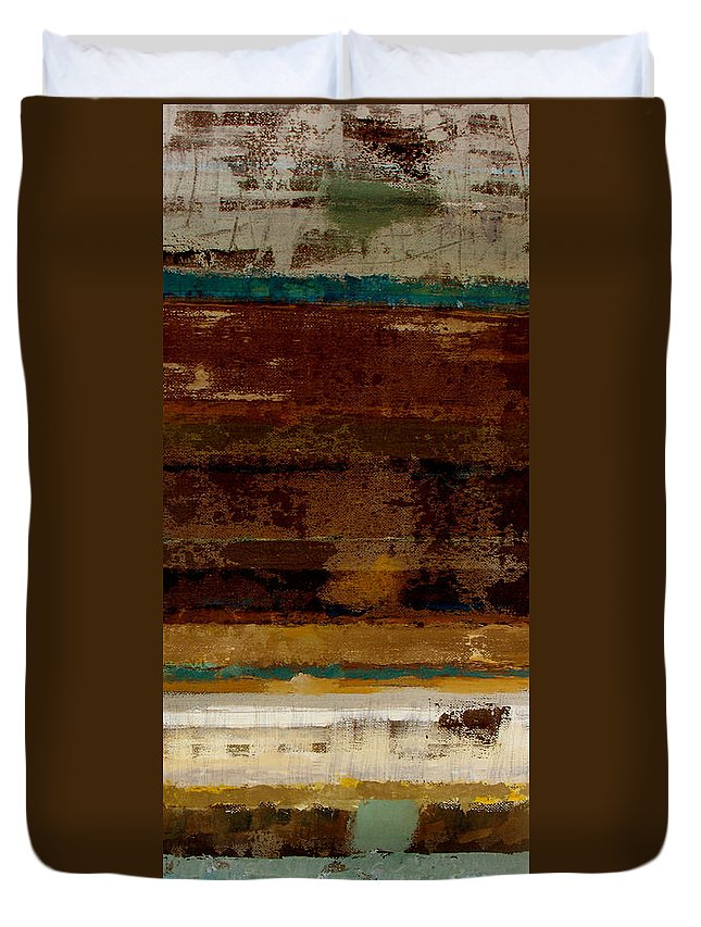 Abstract Duvet Cover featuring the painting Togetherness II by Ruth Palmer