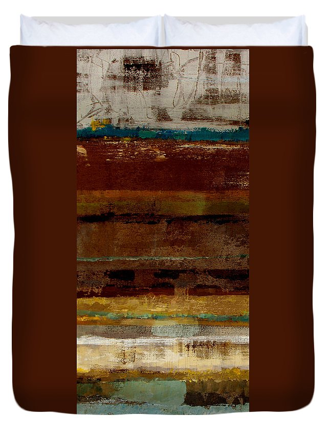Abstract Duvet Cover featuring the painting Togetherness by Ruth Palmer