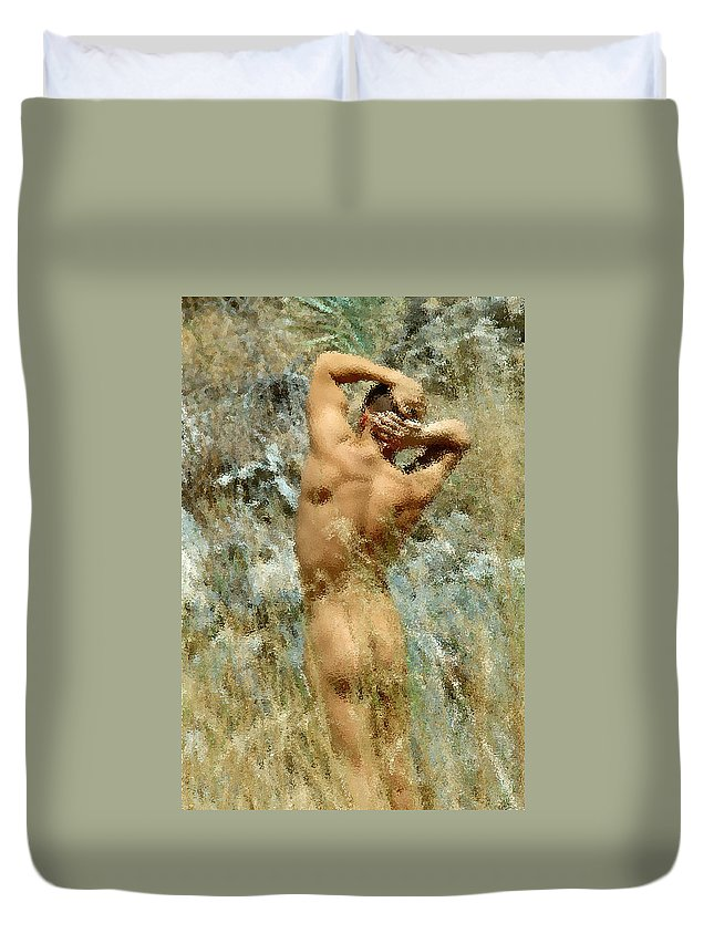 Male Duvet Cover featuring the photograph Tom D. 7-4 by Andy Shomock
