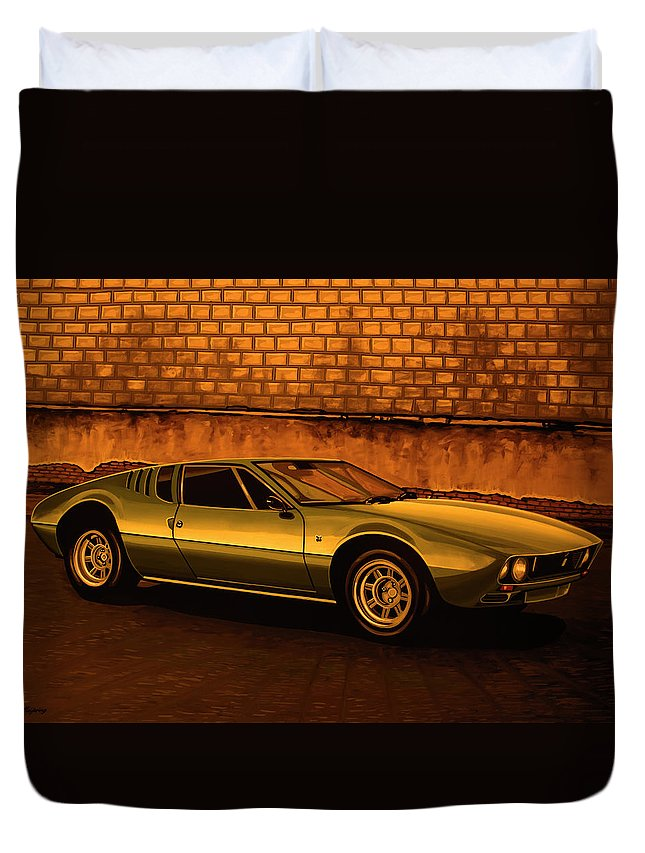 Tomaso Mangusta Duvet Cover featuring the painting Tomaso Mangusta Mixed Media by Paul Meijering