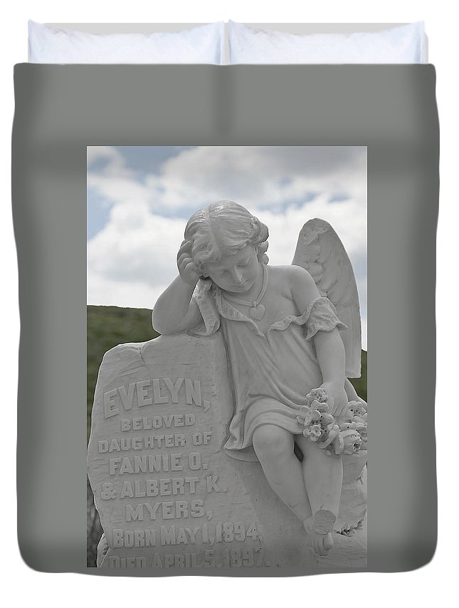 Bodie Duvet Cover featuring the photograph Tombstone Angel For An Angel by Christine Till
