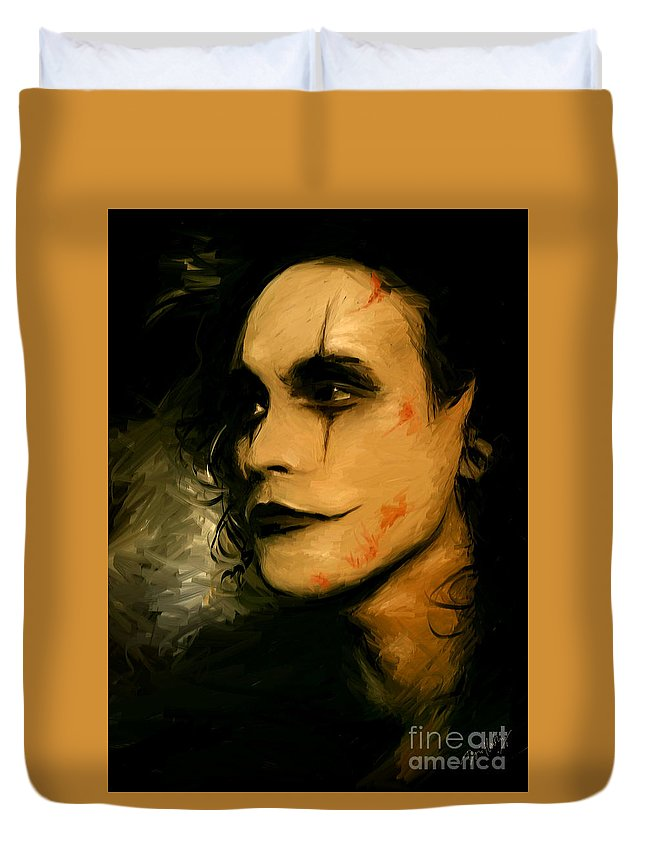 Brandon Lee Duvet Cover featuring the digital art Tonight Is The Night by Dori Hartley