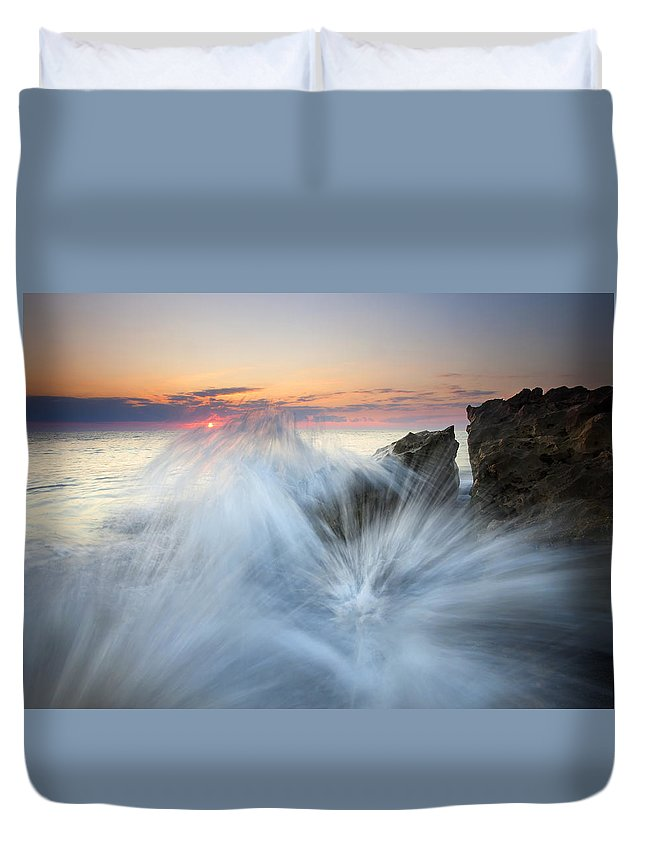 Sunrise Duvet Cover featuring the photograph Too Close For Comfort by Mike Dawson
