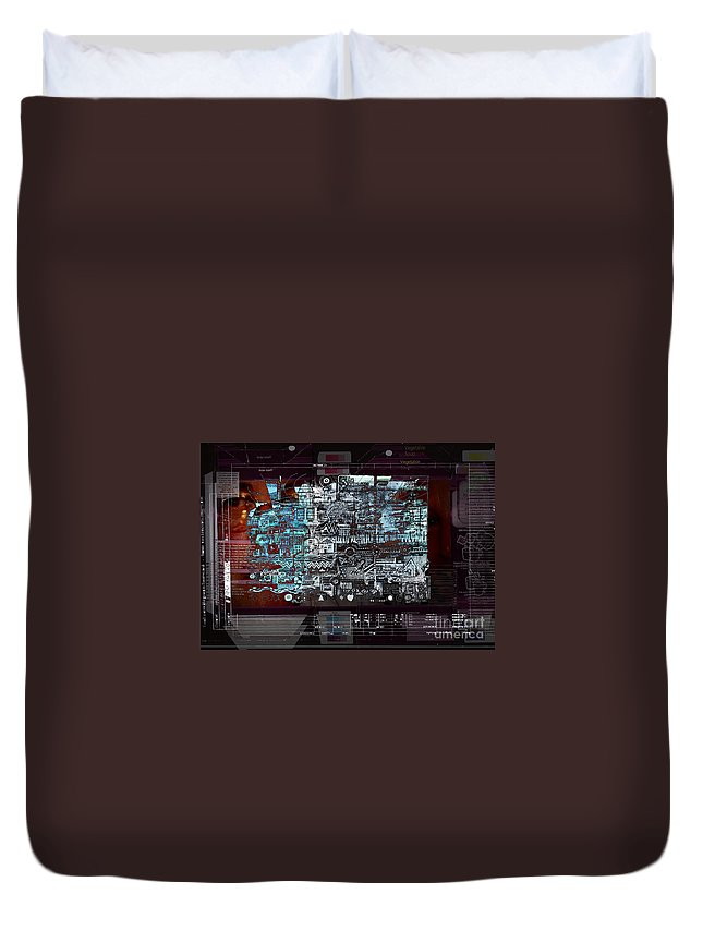 Information Duvet Cover featuring the digital art Too Much Information by Andy Mercer