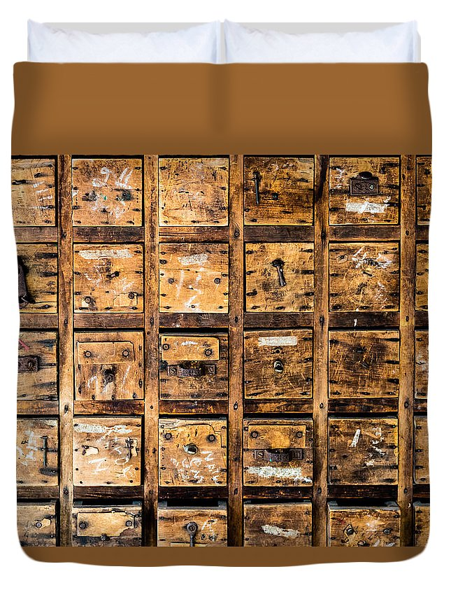 Tool Drawers Duvet Cover featuring the photograph Drawers by M G Whittingham