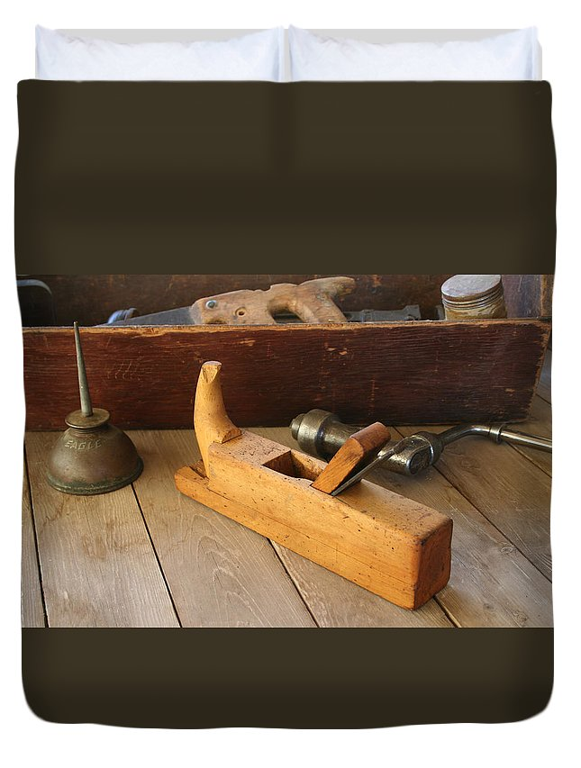 Tool Duvet Cover featuring the photograph Tools by Marna Edwards Flavell
