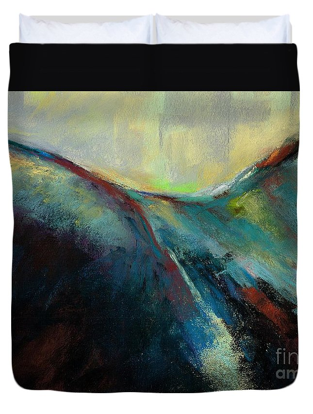 Horses Duvet Cover featuring the painting Top Line by Frances Marino