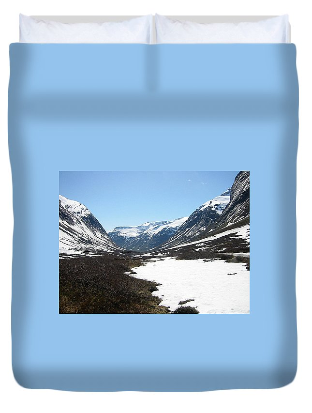 Mountain Duvet Cover featuring the photograph Top Of Rv 63 by Are Lund