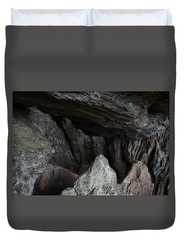 Rock Duvet Cover featuring the photograph Top Of The Rock by Natalia Kazana