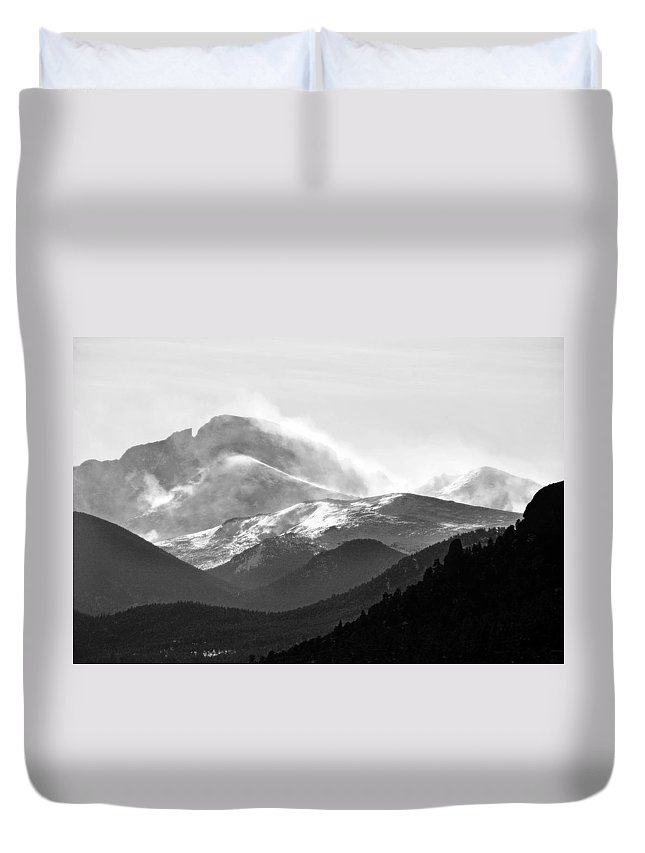 Top Duvet Cover featuring the photograph Top Of The World by Marilyn Hunt