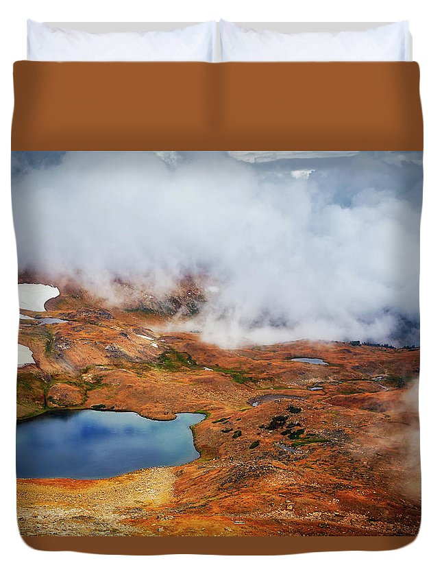 Adventure Duvet Cover featuring the photograph Top Of The World by Rick Furmanek