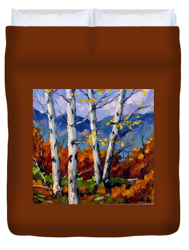 Peintre Duvet Cover featuring the painting Top Sides Colors by Richard T Pranke