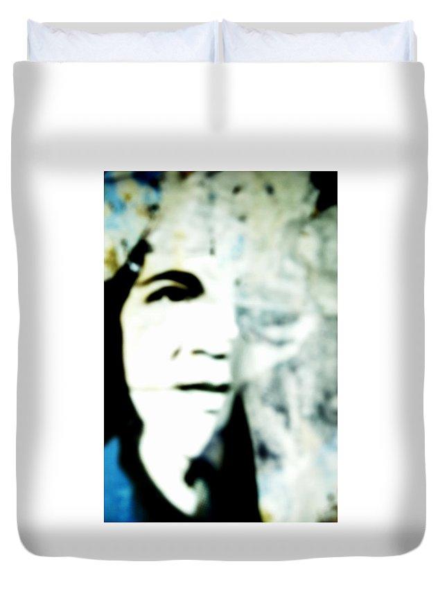 Black Duvet Cover featuring the photograph Torn by Sara Stevenson