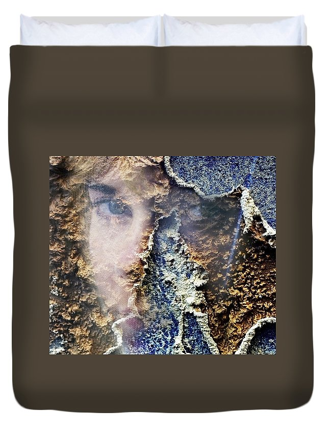Female Duvet Cover featuring the photograph Torn by Skip Hunt