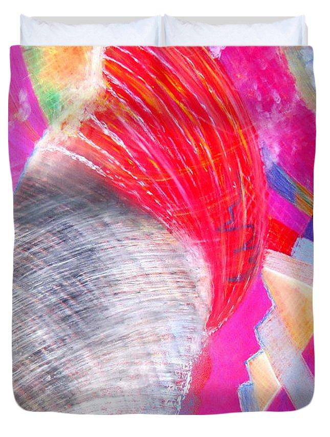 Tornado Duvet Cover featuring the pastel Tornado by Petra Olsakova