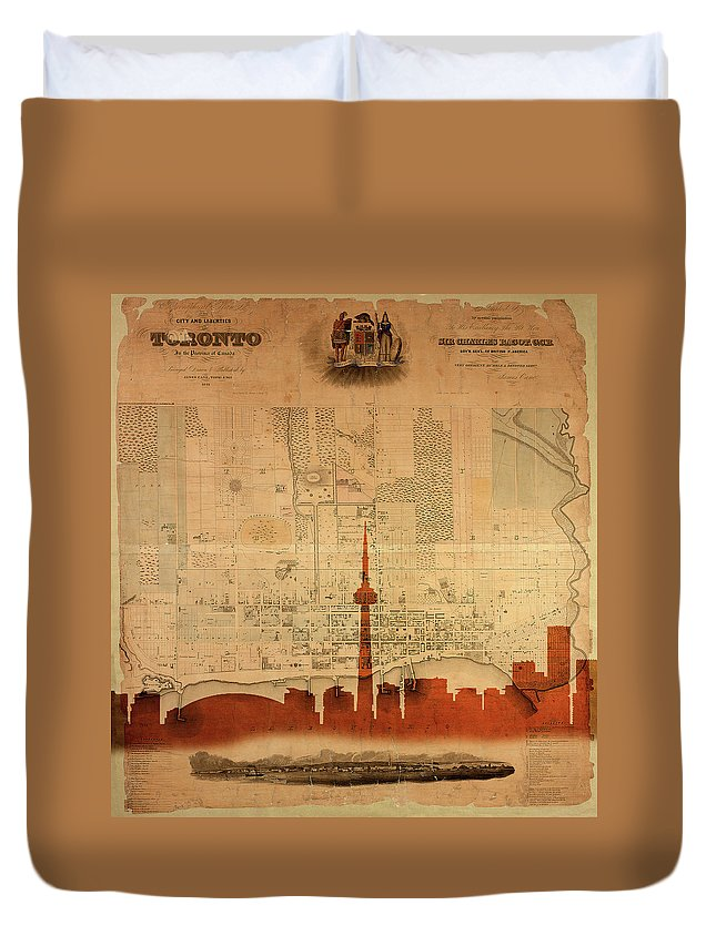 Toronto Skyline Duvet Cover featuring the photograph Toronto Skyline 36 by Andrew Fare