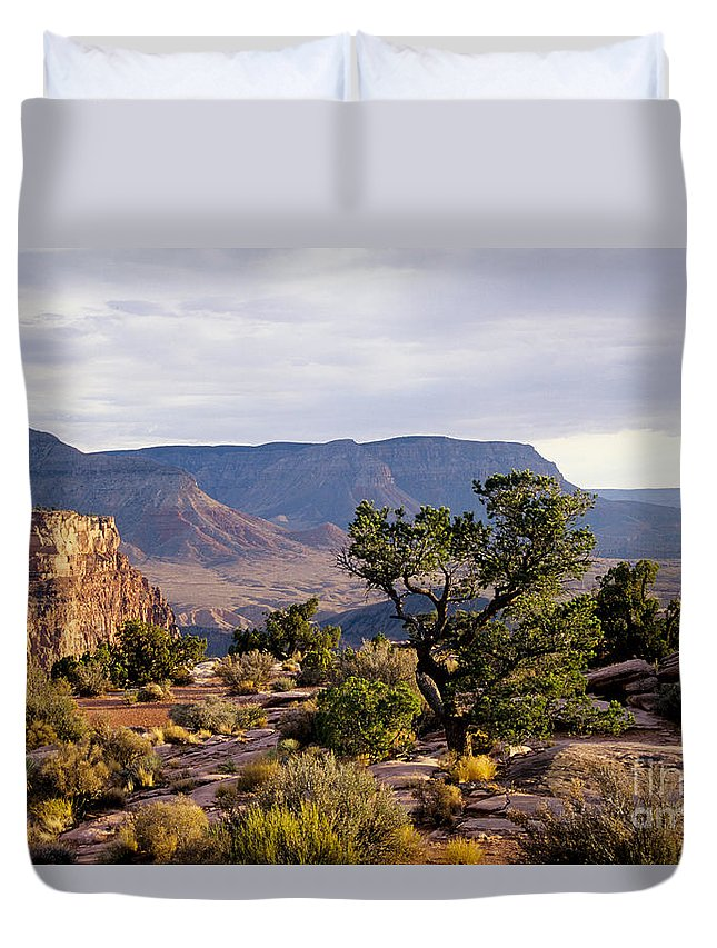 Arizona Duvet Cover featuring the photograph Toroweap by Kathy McClure