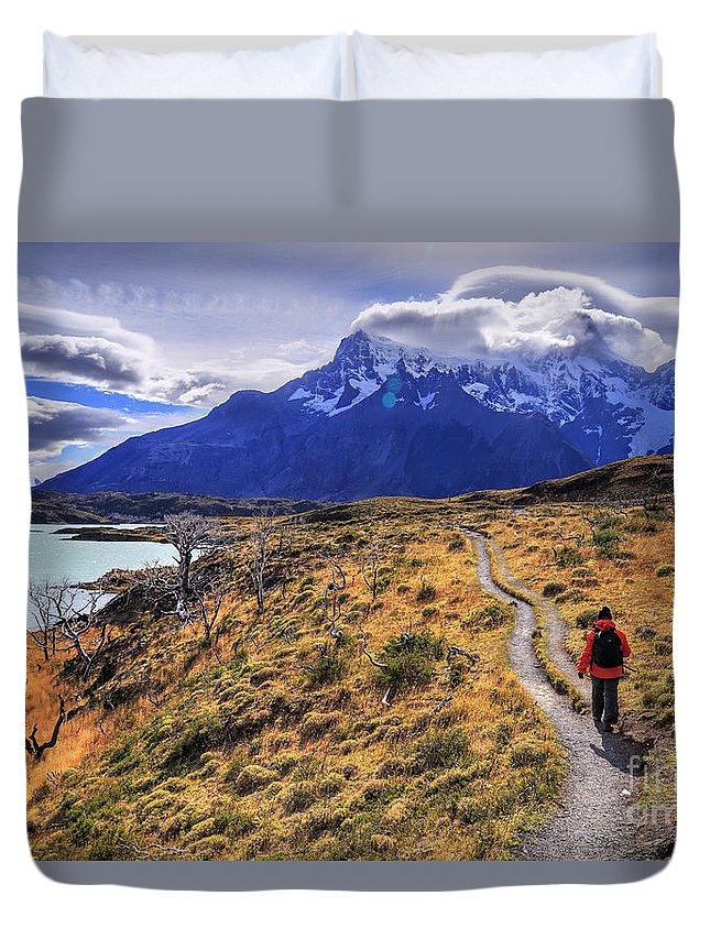 Torres Del Paine Chile Patagonia Duvet Cover featuring the photograph Torres Del Paine 21 by Bernardo Galmarini