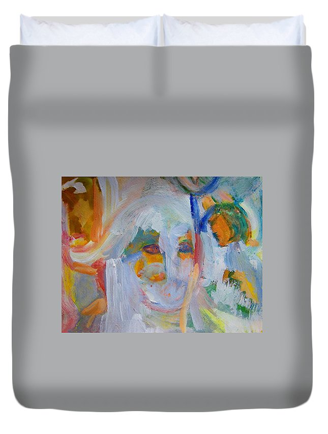 Abstract Duvet Cover featuring the painting Totally Sterile by Judith Redman