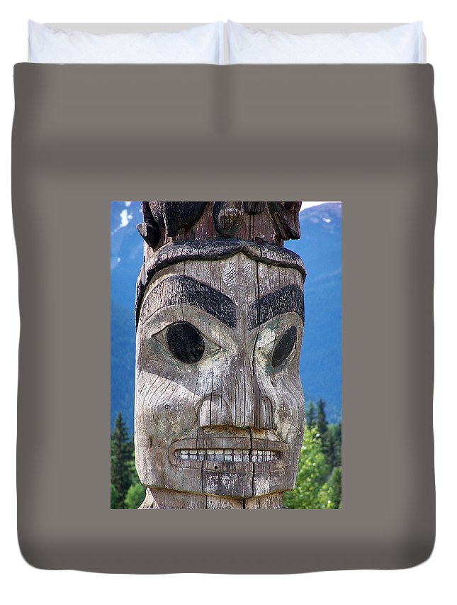 Totem Duvet Cover featuring the photograph Totem by Marty Koch