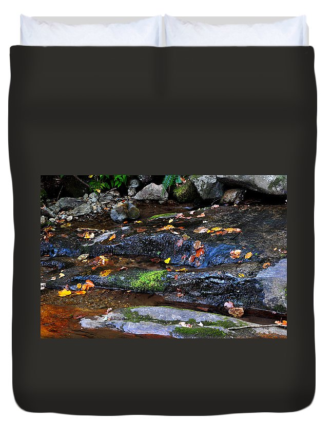 Water Duvet Cover featuring the photograph Touch Of Fall by Todd Hostetter