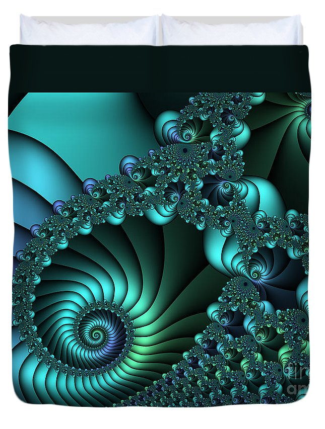 Fractal Duvet Cover featuring the digital art Touch The Sky by Jutta Maria Pusl