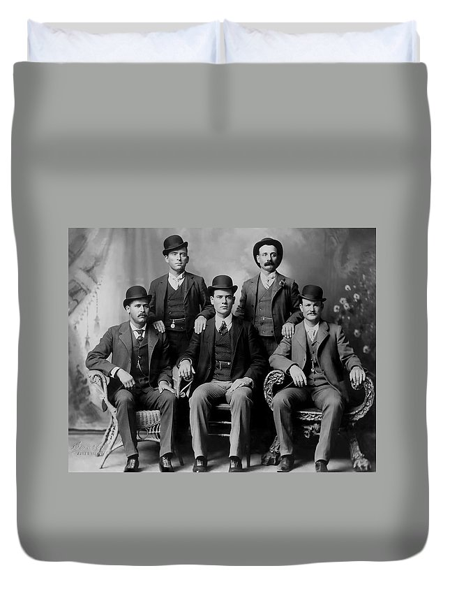 Wyoming Duvet Cover featuring the photograph Tough Men Of The Old West 2 by Daniel Hagerman
