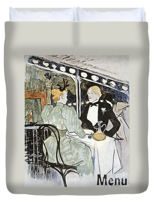 19th Century Duvet Cover featuring the photograph Toulouse-lautrec: Menu by Granger