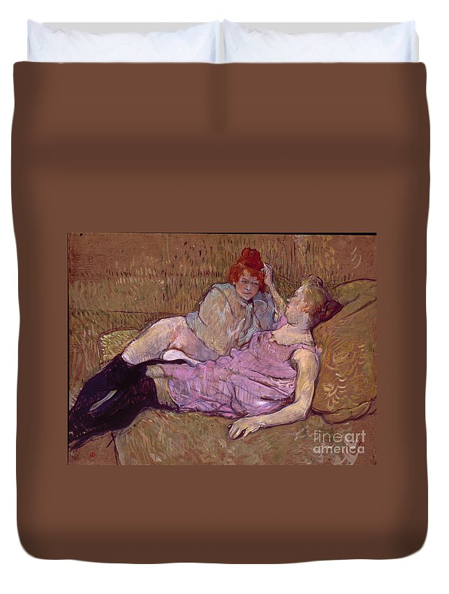 1894 Duvet Cover featuring the photograph Toulouse Lautrec The Sofa by Granger