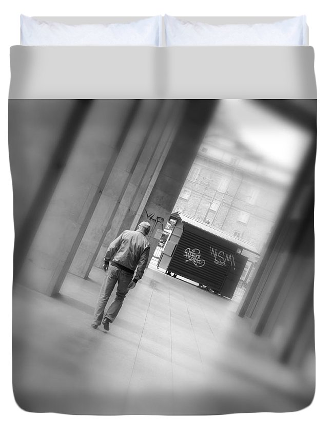 End Duvet Cover featuring the photograph Towards The End by Valentino Visentini