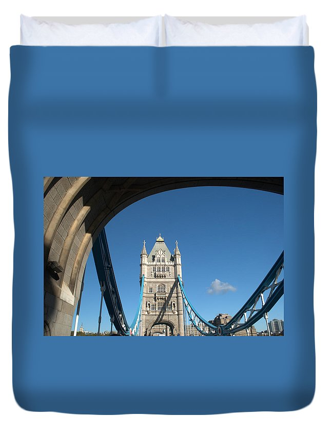 Tower Bridge Duvet Cover featuring the photograph Tower Bridge by Chris Day