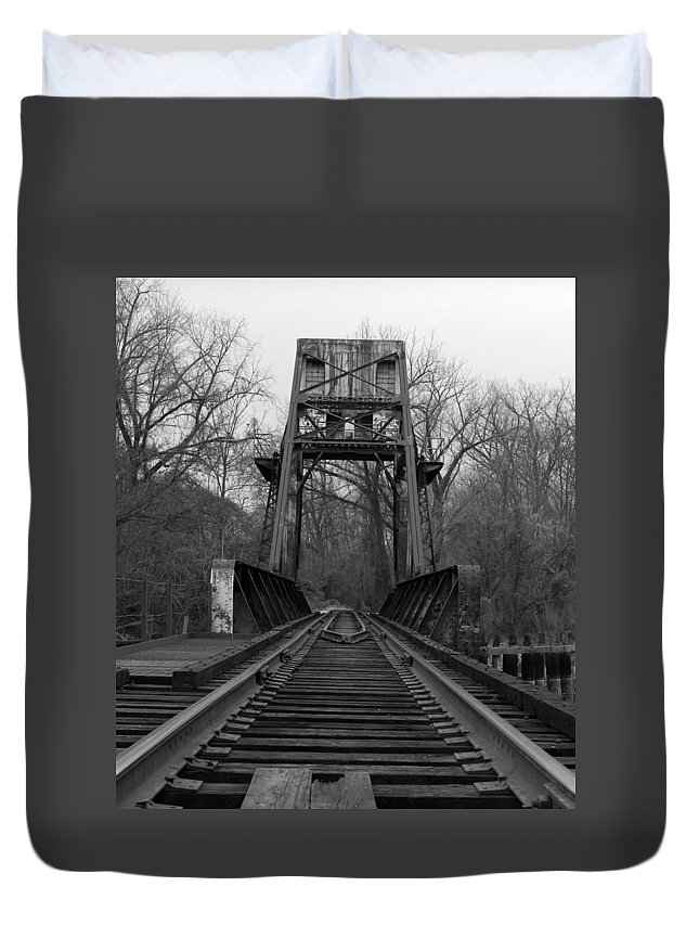 Tracks Duvet Cover featuring the photograph Tracking The Past by Kelvin Booker
