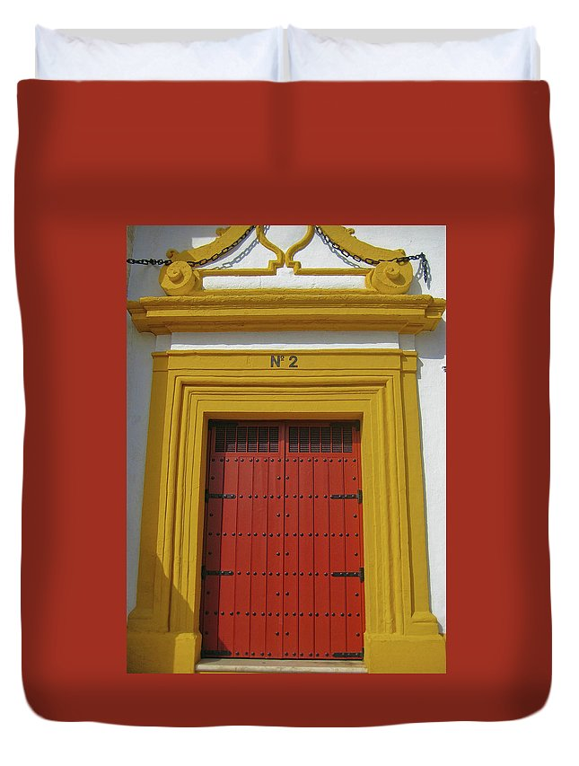 Door Duvet Cover featuring the photograph Traditions Of Sevilla by JAMART Photography