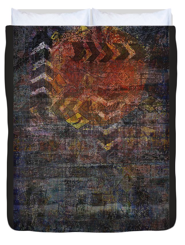 Traffic Duvet Cover featuring the digital art Traffic 2 by Andy Mercer