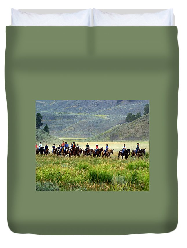 Trail Ride Duvet Cover featuring the photograph Trail Ride by Marty Koch