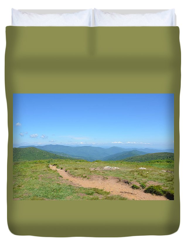 Hiking Duvet Cover featuring the photograph Trail View by Timothy Markley