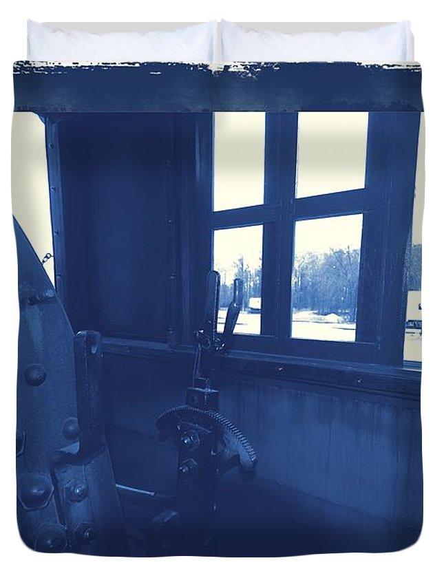 Train Duvet Cover featuring the photograph Trains 5 3a by Jay Mann