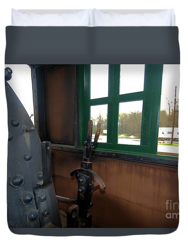 Train Duvet Cover featuring the photograph Trains 5 Org by Jay Mann