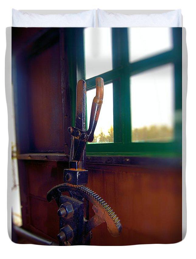 Train Duvet Cover featuring the photograph Trains 6 Selfoc by Jay Mann