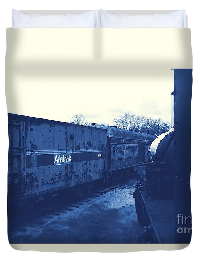 Train Duvet Cover featuring the photograph Trains 7 3 by Jay Mann