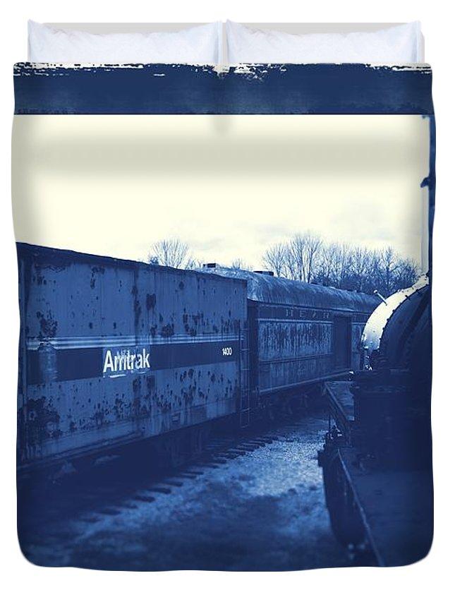 Train Duvet Cover featuring the photograph Trains 7 3a by Jay Mann