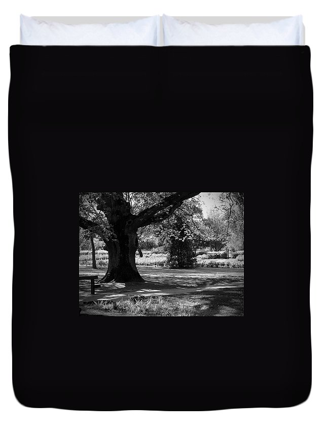 Irish Duvet Cover featuring the photograph Tralee Town Park Ireland by Teresa Mucha