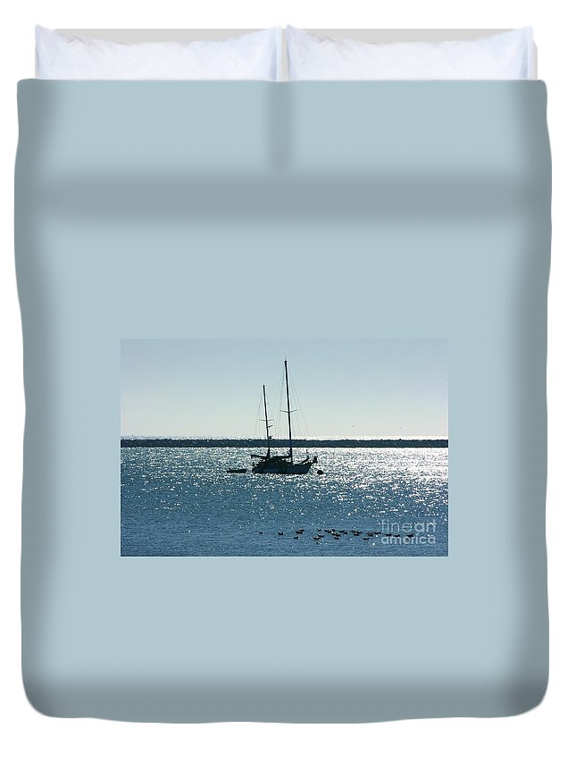 Seascape Duvet Cover featuring the photograph Tranquil Bay by Carol Groenen