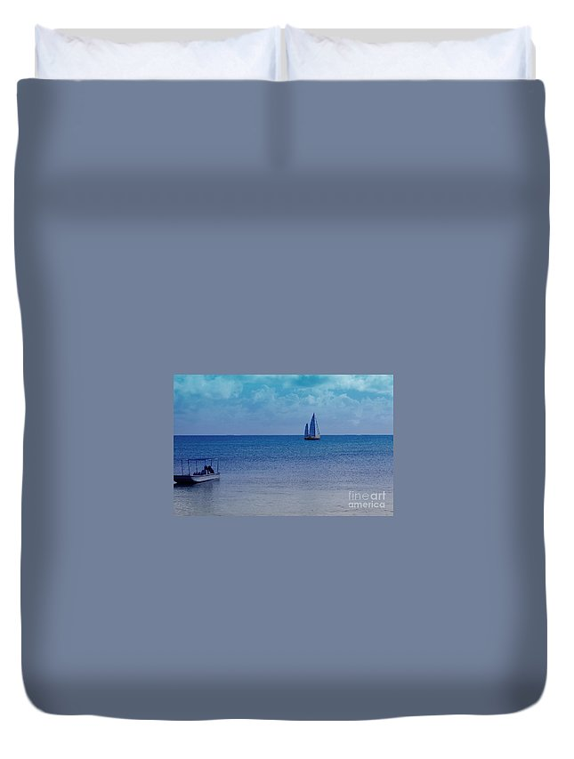 Water Duvet Cover featuring the photograph Tranquil Blue by Debbi Granruth
