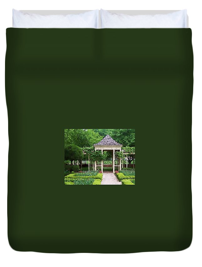 Garden Duvet Cover featuring the photograph Tranquil by Debbi Granruth