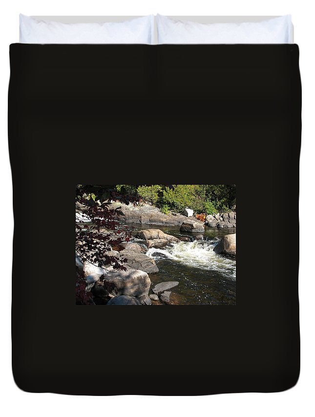 River Duvet Cover featuring the photograph Tranquil Spot by Kelly Mezzapelle