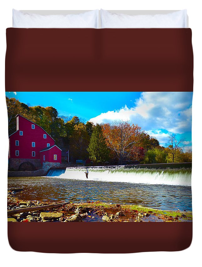 Landscape Duvet Cover featuring the photograph Tranquility by American Image Bednar