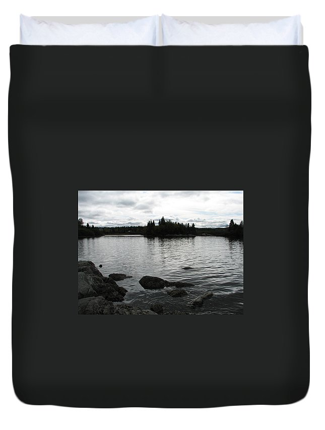 Water Duvet Cover featuring the photograph Tranquility by Kelly Mezzapelle