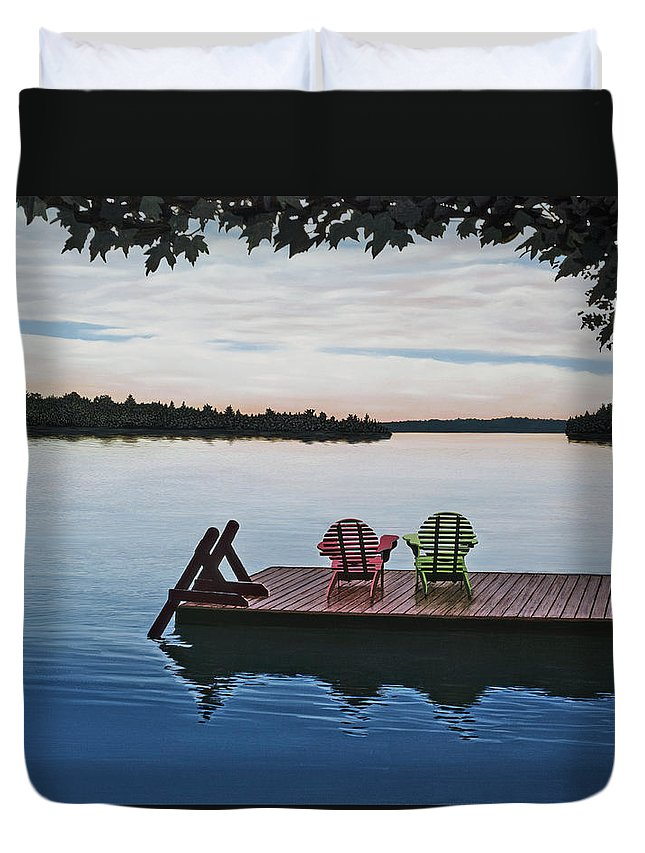 Landscapes Paintings Duvet Cover featuring the painting Tranquility by Kenneth M Kirsch