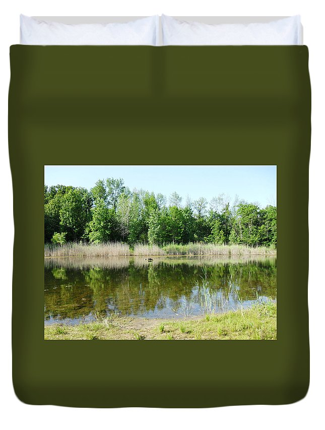 Nature Duvet Cover featuring the photograph Tranquility Reflected by Peggy King